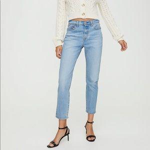 Levi's Wedgie Icon aritzia straight jeans denim